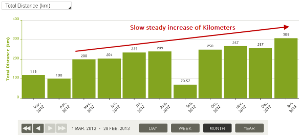 Monthly Increase Kms