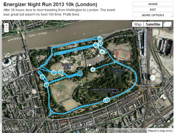 Energizer Night Run 10km in Battersea Park - London