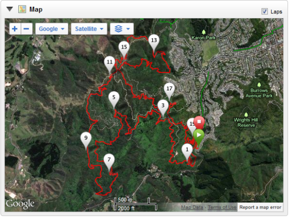 Xterra Trail Map of Makara Run