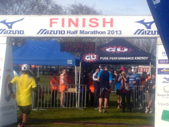 Taupo Half Finish 2013