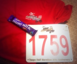 Taupo Half 2013 - A T-Shirt and Chocolate