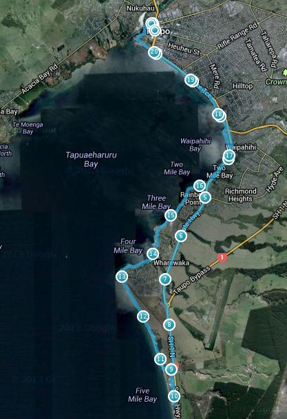 Taupo Half Marathon 2013 Course