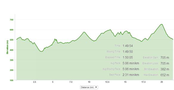 Tauhara 2014 Profile and run data